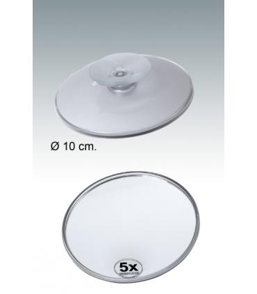 Espejo aumento con ventosa de metacrilato de 10,5cm Espejos de aumento aumento: x5 aum, x7 aum, x10