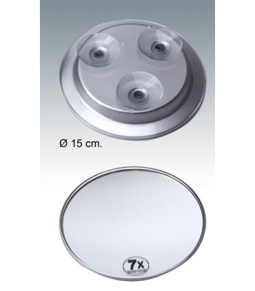 Espejo aumento con ventosa de metacrilato de 15,5 cm Espejos de aumento aumento: x5 aum, x7 aum