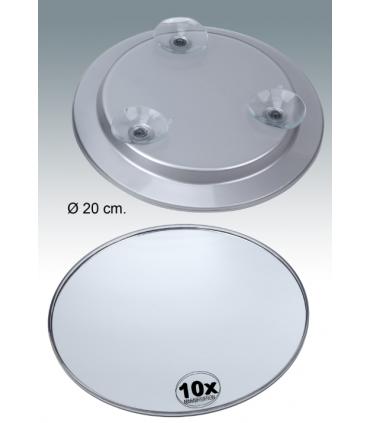 Espejo aumento con ventosa metacrilato de 20,5 cm Espejos de aumento aumento: x5 aum, x7 aum, x10