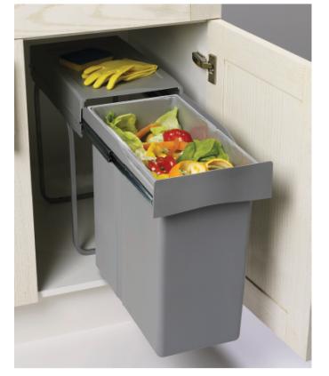 Cubo extracción total 1cubeta Spazio 1.0 Gestión de residuos Medidas: 30 cm; Capacidad Litros: 40