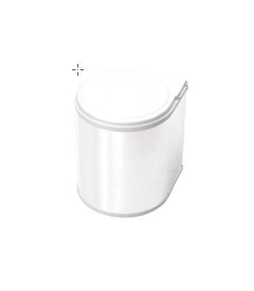 Cubo apertura a puerta 13 litros Gestión de residuos Color: blanco, inox   Tienda Online Casa y