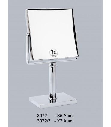 Espejo de sobremesa cuadrado mediano Espejos de aumento aumento: x5 aum, x7 aum Montaje: pie