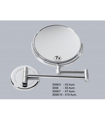 Espejo pared 2 brazos Espejos de aumento aumento: x3 aum, x5 aum, x7 aum, x10 aum   Tienda Online
