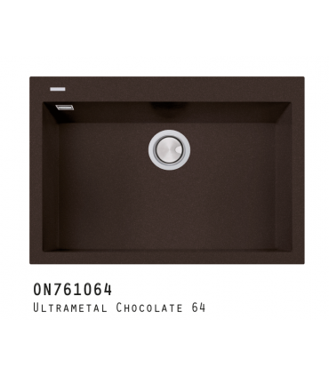 Fregadero One 1 cubeta 70x40cm Fregaderos Color: chocolate 64, blak matt 70, titanio 42, aluminio