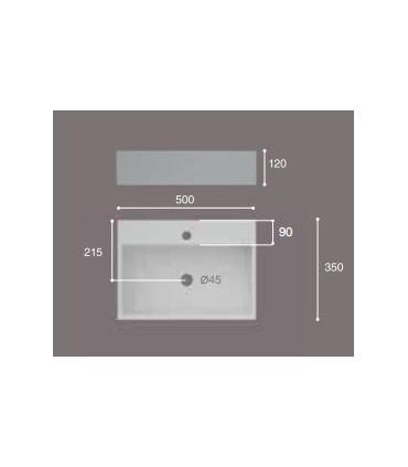Lavabo de sobre-encimera Leo Lavabos  Instalación: sobre encimera  Tienda Online Casa y Menaje