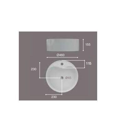 Lavabo de sobre-encimera Round 46 Lavabos  Instalación: sobre encimera  Tienda Online Casa y