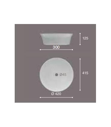Lavabo de sobre-encimera Ajax Lavabos  Instalación: sobre encimera  Tienda Online Casa y Menaje
