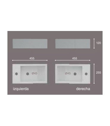 Lavabo suspendido Picolo Lavabos Montaje: con juego de sujección, sin juego de sujección; Posicion