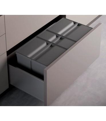 Cubo ecológico Maxi XL 700/800mm Gestión de residuos Medidas Cubo: 700 mm 1x26+2x11 litros, 700 mm