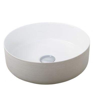 Lavabo sobre encimera Round Lavabos Color: blanco brillo, blanco mate, rayado, negro mate