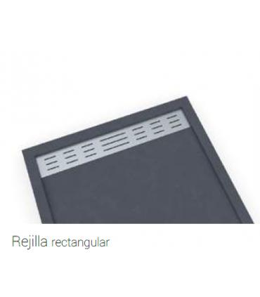 Plato de ducha Bidai con semimarco Platos de ducha Textura Pizarra: blanco ral 9003, grafito ral