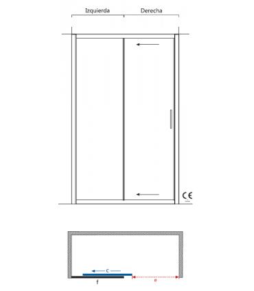 Mampara frontal Tiber Inicio    Tienda Online Casa y Menaje, Todo para tu hogar - Cocinas,Baños