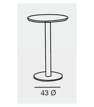 Mesa Zama tapa laminado base cromo Mesas, sillas y taburetes Medidas: 60 cm, 80 cm., 90 cm.; Color