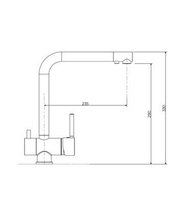 Monomando fregadero Osmosis Grifos de cocina Color: cromo, inox, copper, negro   Tienda Online Casa