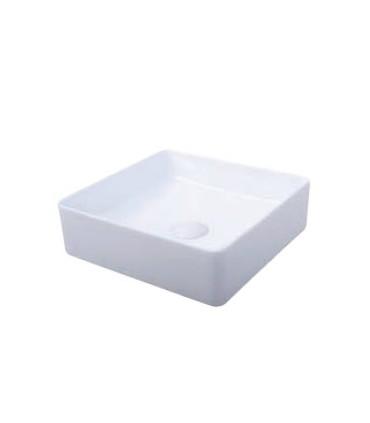 Lavabo sobre encimera Square Lavabos Color: blanco brillo, blanco mate, negro mate   Tienda Online