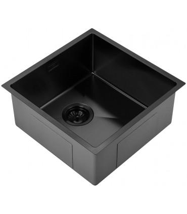 Fregadero acero 1 cubeta 440 x 440 mm Pirita Fregaderos    Tienda Online Casa y Menaje, Todo para