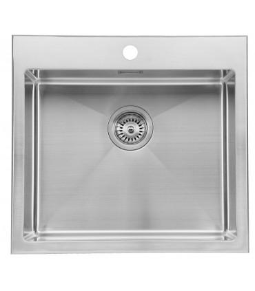 Fregadero acero 1 cubeta 540 x 500 mm Cuarzo Fregaderos    Tienda Online Casa y Menaje, Todo para
